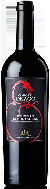 Bottiglia di vino Campo del Drago Brunello di Montalcino