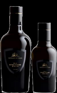 Olio in bottiglia, nei formati 0,50L e 0,25L